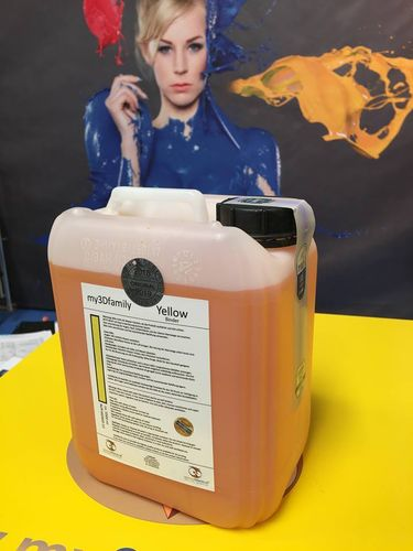 Refill *ORIGINAL* Yellow Binder 1x ca. 5 litre Projet / Z Printer  850 / 660 / 650 .. ec.