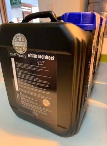 White Architect *CLEAR* Binder / 5 litre
